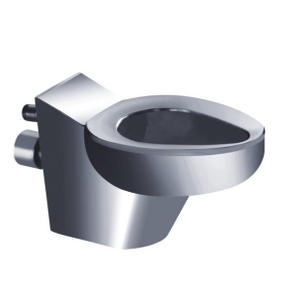 wall amounted stainless steel toilet pan