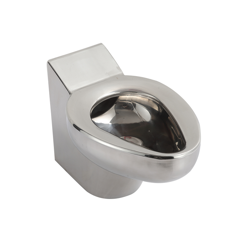 wall amounted stainless steel toilet