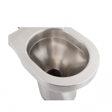 CE APPROVED Stainless steel toilet with S TRAP