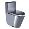 stainless steel toilet with stainless steel cover