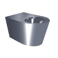 Stainless Steel Wall Hang P-trap Toilet Pan